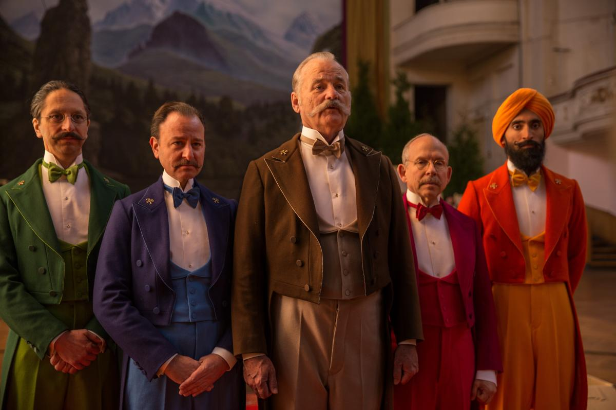 "Nearly every male character in The Grand Budapest Hotel has some kind of beard or mustache. Some were real, but hair and makeup designer Frances Hannon says ""about 60 or 70 percent"" were artificial."