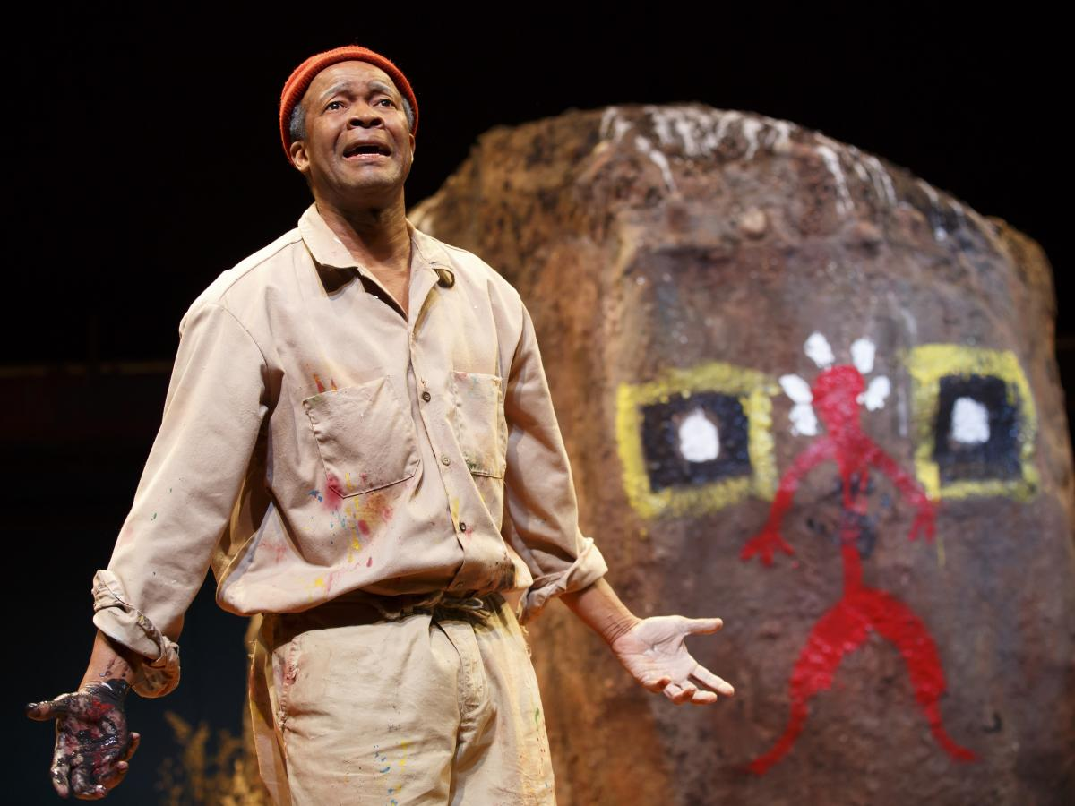 Leon Addison Brown plays Nukain Mabuza, a South African artist who paints his life story on a boulder serving as his canvas.
