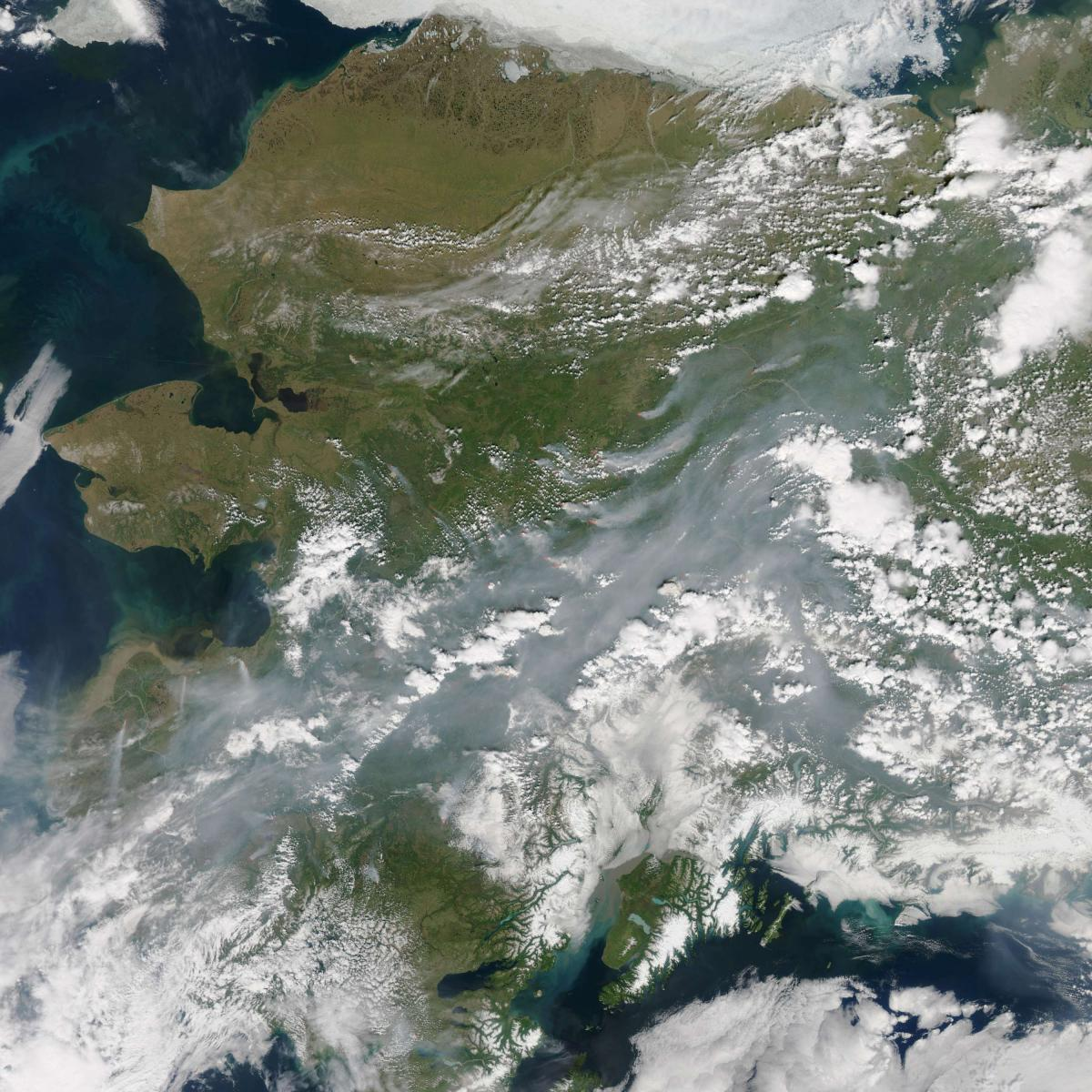 Images taken by NASA satellites last month revealed the extent of wildfires in Alaska's interior. Beyond such wildfires' immediate threats, some scientists are also concerned that they could lead to melting permafrost — and hasten the pace of global cli