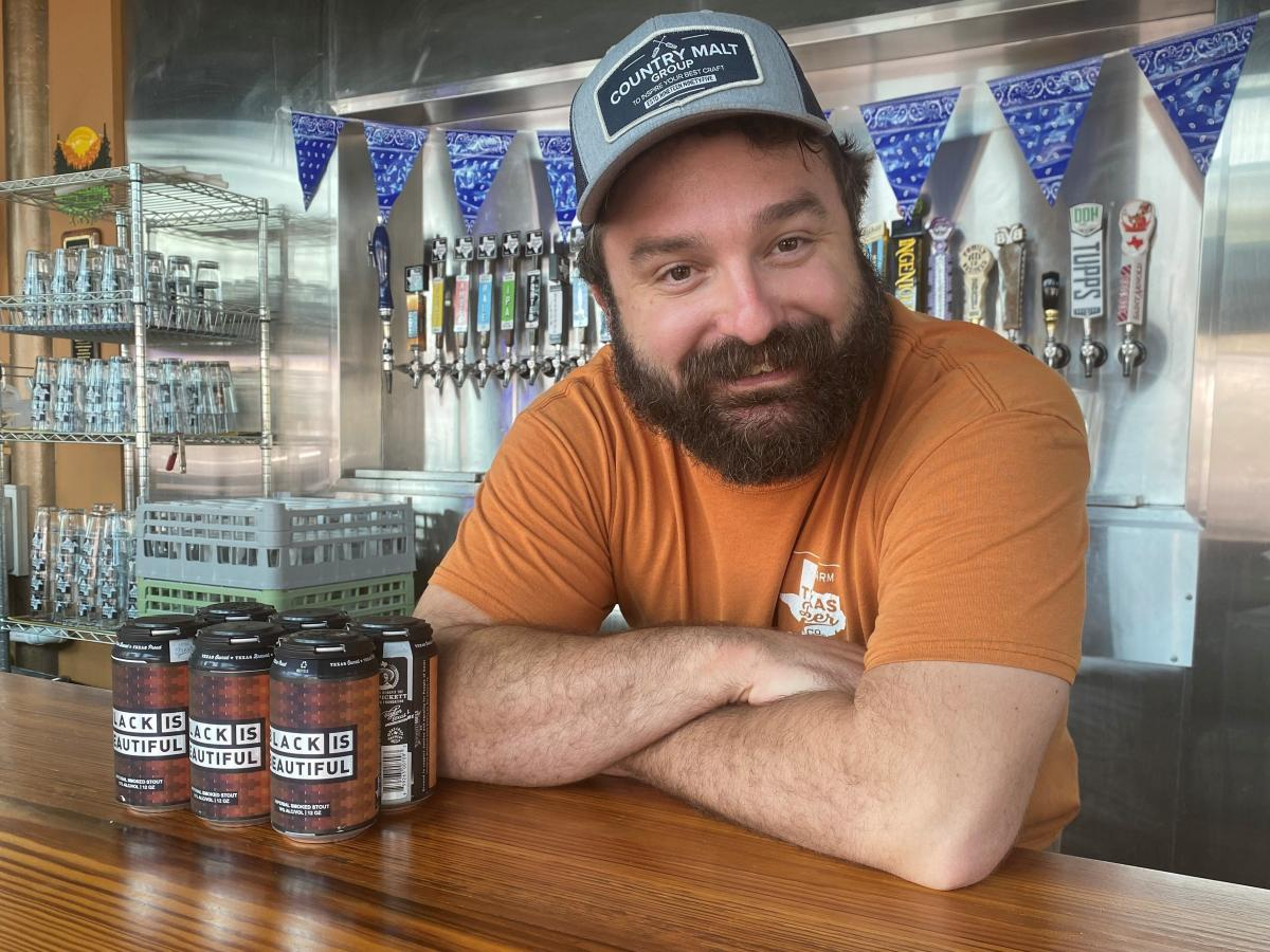 In the town of Taylor, northeast of Austin, J.D. Gins at the Texas Beer Company is brewing his own version of Black is Beautiful.