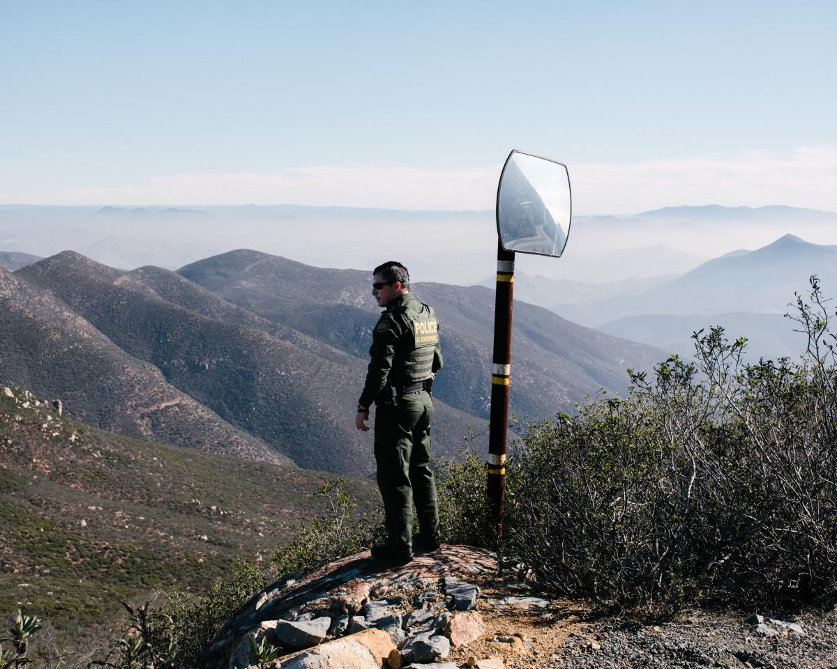 """""""Every night people come through this canyon,"""" said Supervisory Border Patrol Agent Michael Scappechio. """"If we put in a border barrier, we can utilize the [agent] manpower elsewhere."""""""