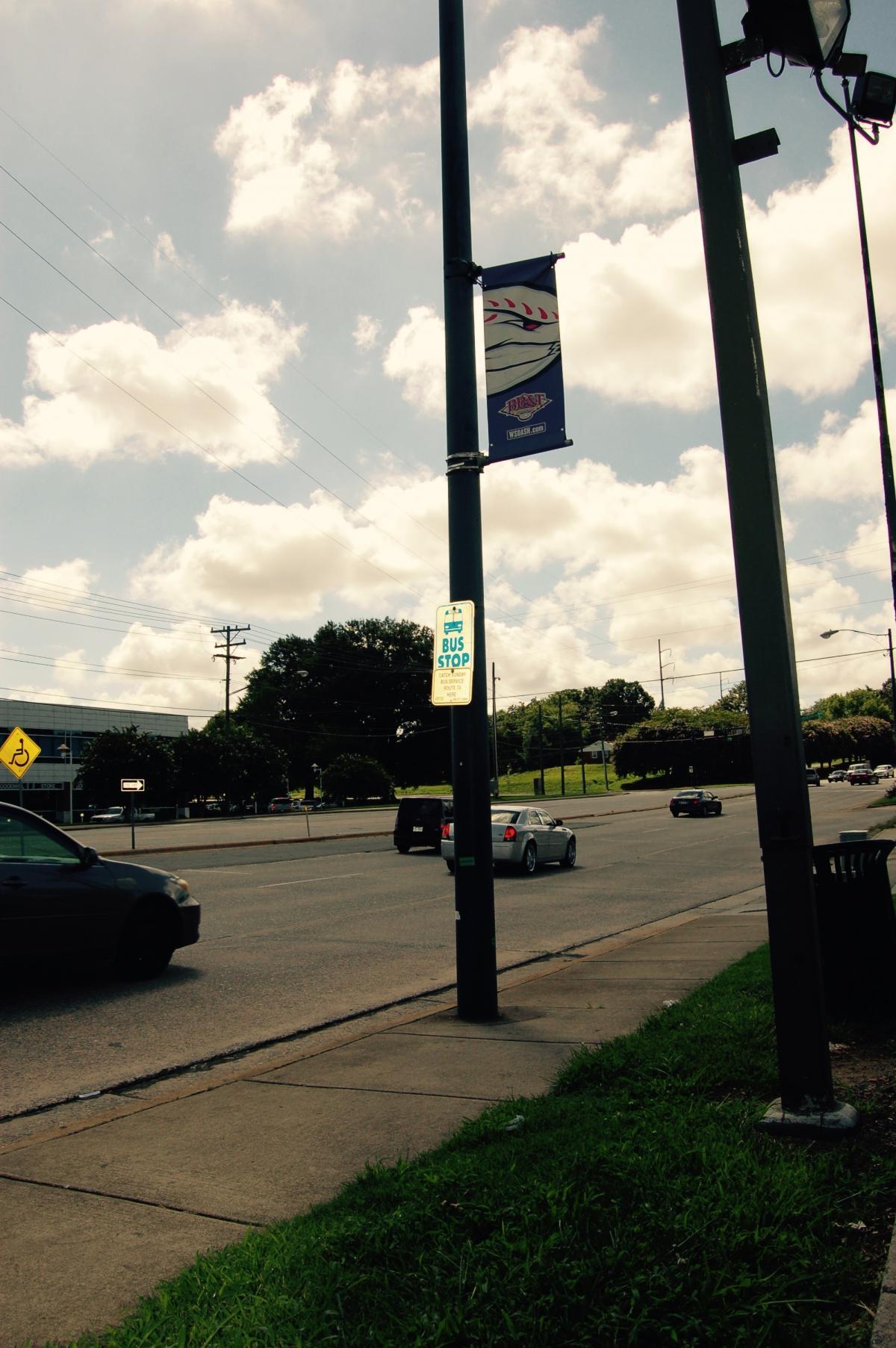 WSTA Bus Stop on University Parkway Blvd.