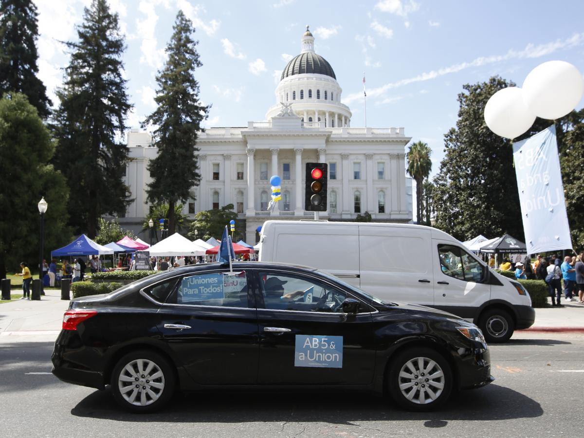Supporters of the measure, known as Assembly Bill 5, gathered for a rally last month at the state Capitol in Sacramento, Calif.