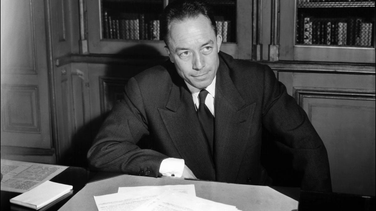 Algeria-born Albert Camus poses for a portrait in Paris following the announcement that he is being awarded the Nobel Prize for literature in 1957. Camus' views on his birthplace still stoke controversy.