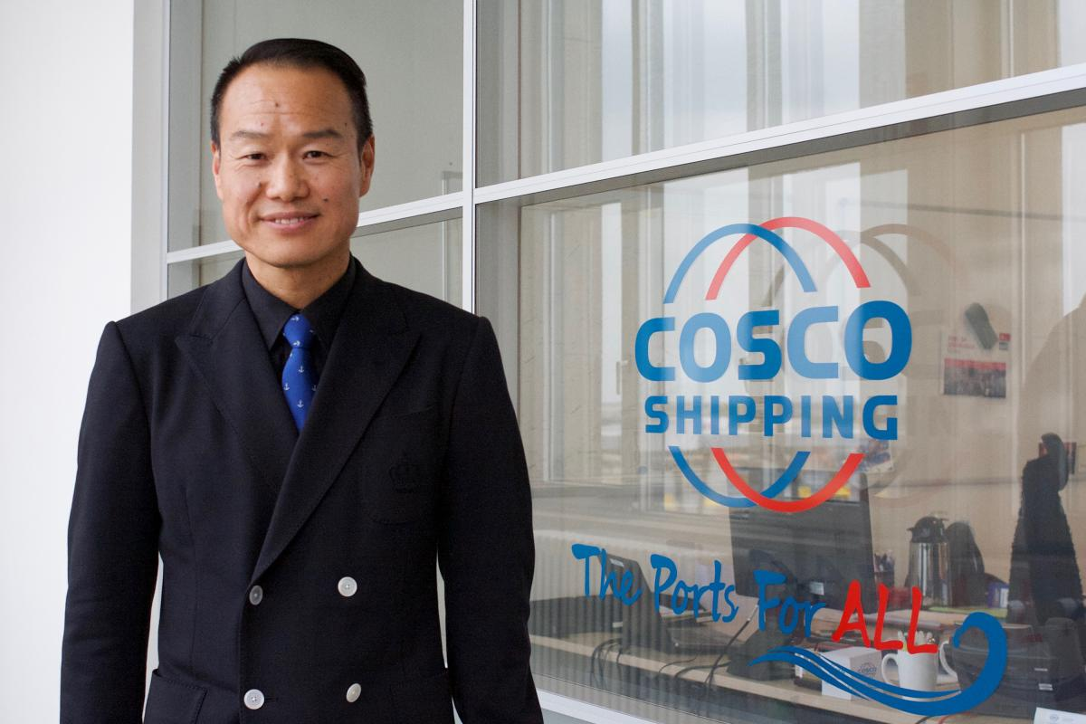 """David Liu, the COSCO chief executive at the Zeebrugge port, has retained local managers at the terminal. """"This is the new, open COSCO,"""" he says. """"We invest in those we work with."""""""