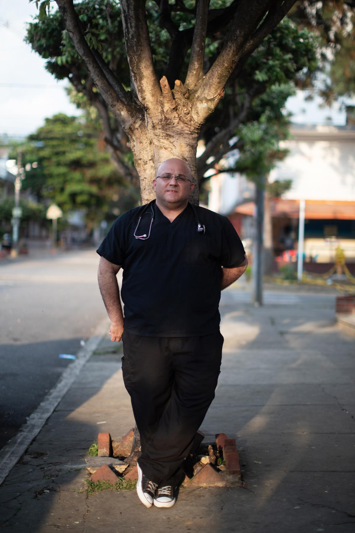 Dr. Roberto Rincón drives to small towns on the route of the caminantes to provide free medical care. As someone who fled Venezuela himself five years ago, he says he can't tell them to stop walking.