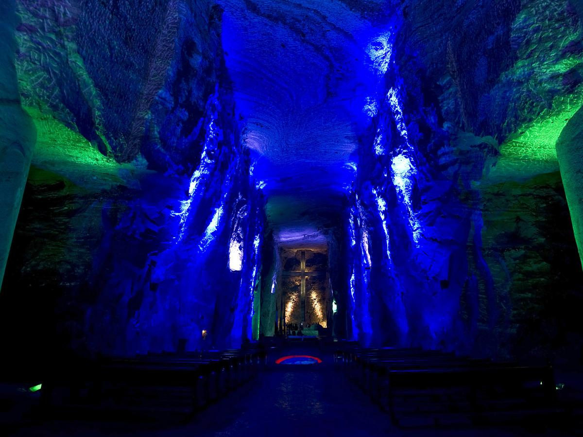 The Salt Cathedral, shown here in 2011, sits 600 feet underground.