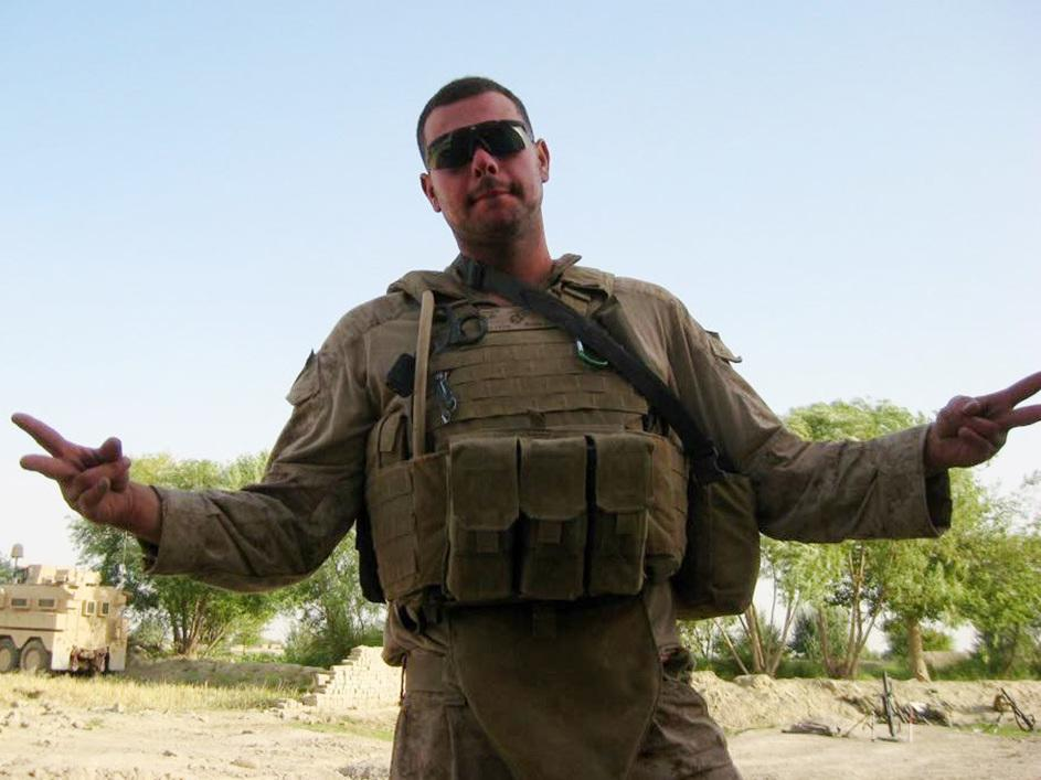 """George """"Mik"""" Todd seen here in Helmand Province, Afghanistan, in July 2009. He served with Echo Company, 2nd Battalion, 8th Marines."""
