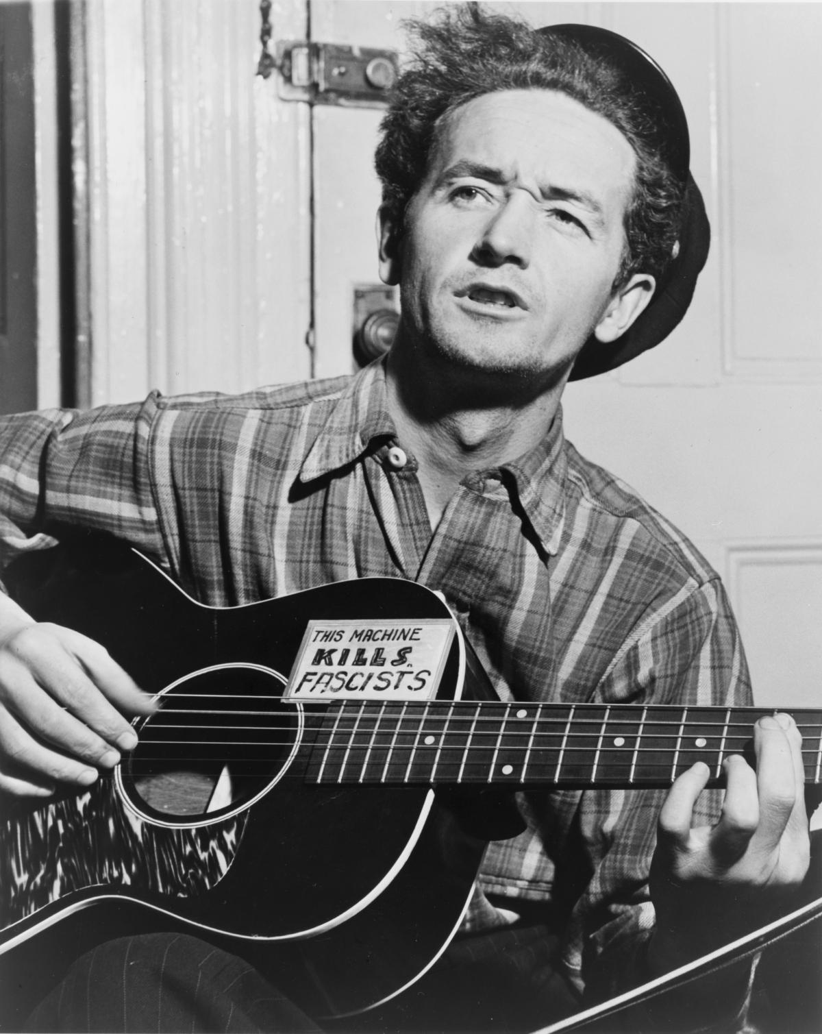 Woody Guthrie in New York City, circa 1943.