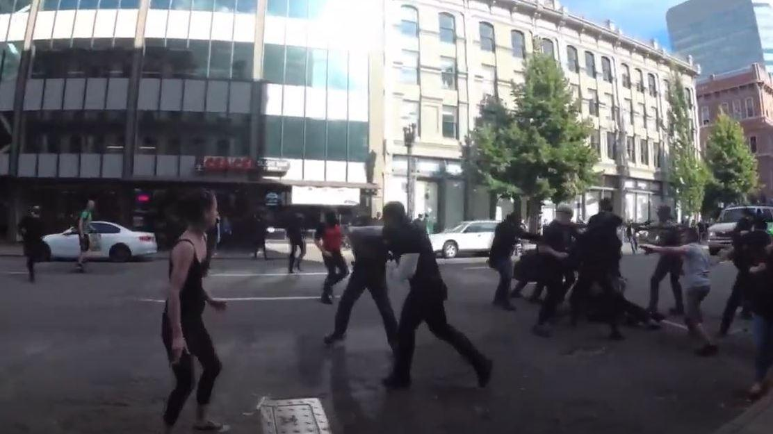 In June 2018, Ethan Nordean punched a counterprotester in the jaw and shoved him to the pavement in Portland, Ore. The Proud Boys have since used the video of that punch as a rallying cry.