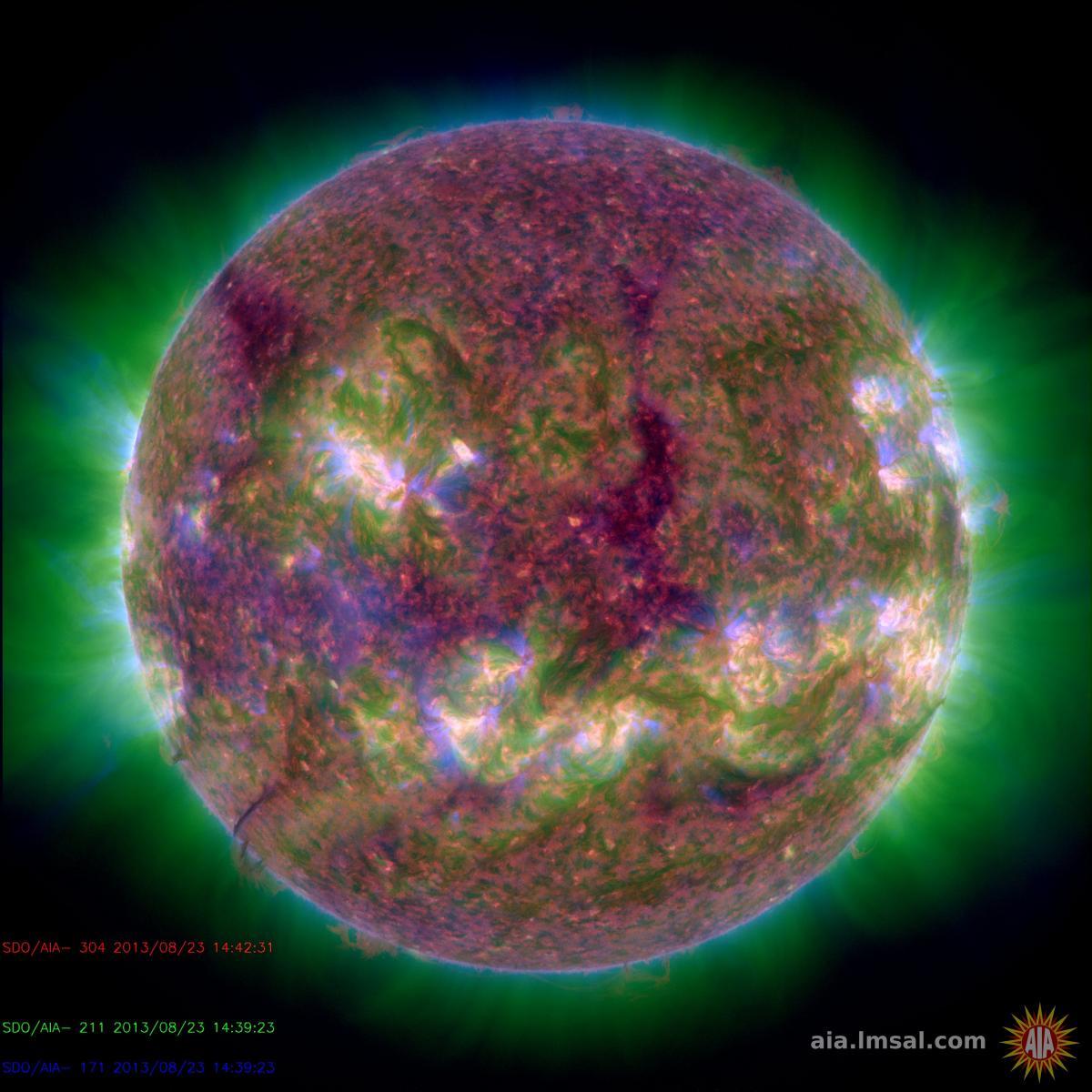 This image combines three images with quite different temperatures.