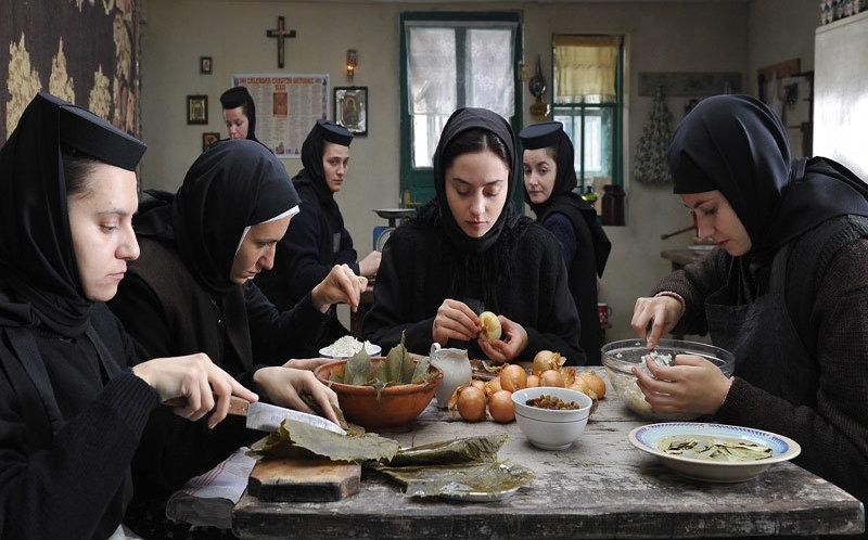 A group of nuns shares a meal in Beyond the Hills. Though the director is hesitant to underline metaphors in his film, contemporary observers won't find it hard to discover what seems like suggestive references to the Romania of dictator Nicolai Ceaucescu