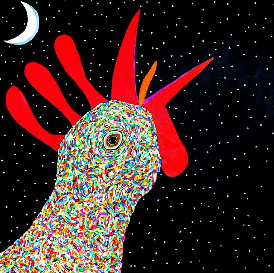 Cover art for Daniel Norgren's album Wooh Dang painted by Jean Metcalf