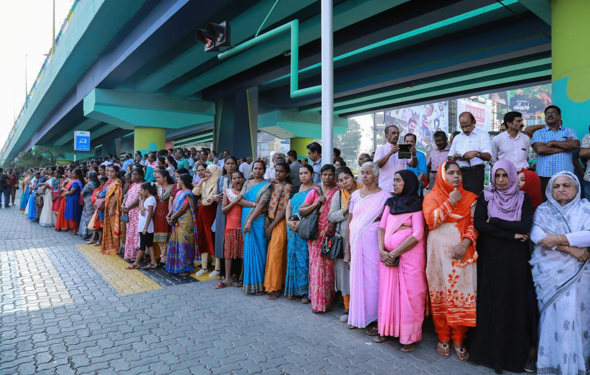 """Millions of women lined up along a highway in Kerala to form a """"women's wall"""" on New Year's Day. For participants, the goal is gender equality."""