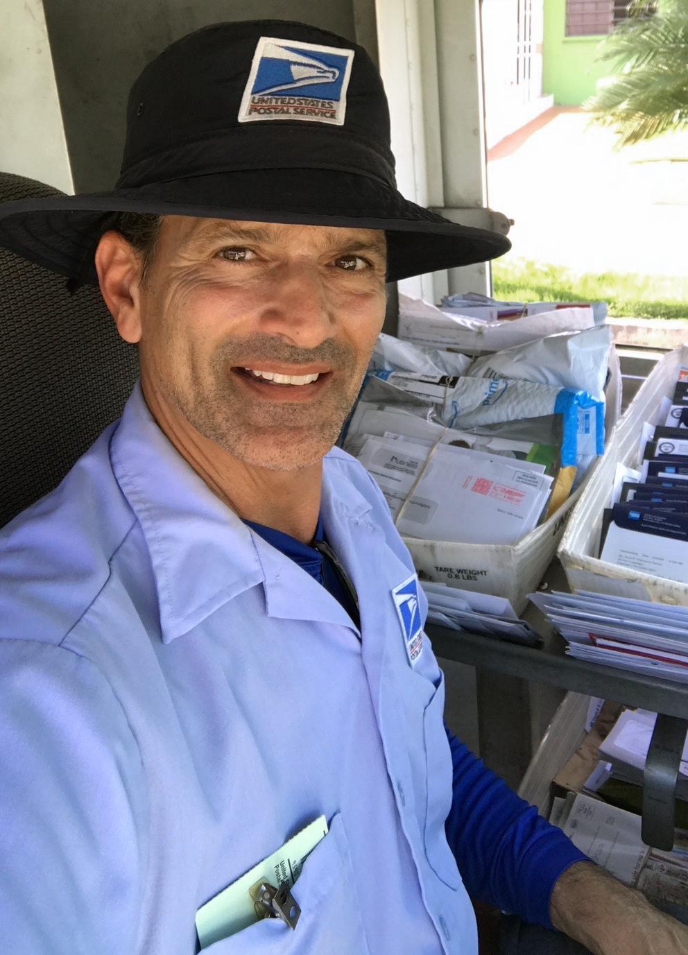 Carlos Rodriguez, 55, is a mail carrier in Guaynabo, Puerto Rico.