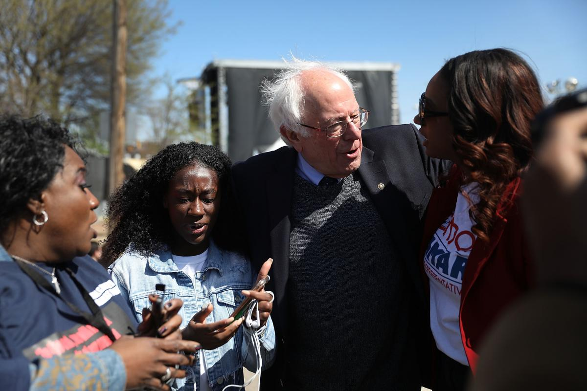 Sen. Bernie Sanders at an event commemorating the 50th anniversary of Dr. Martin Luther King Jr.'s assassination April 4, 2018 in Memphis, Tenn.