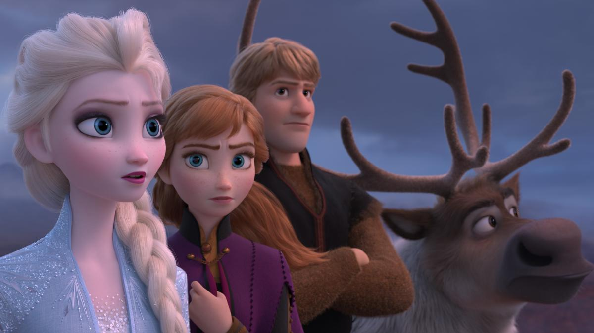 Elsa, Anna, Kristoff and Sven take on a new adventure in Frozen II.
