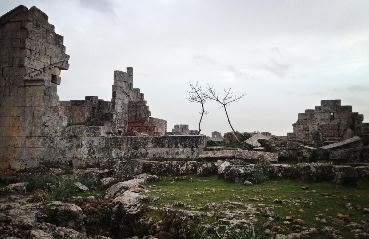 """The Syrian """"Dead City"""" of Shanshrah, in northern Idlib province. A U.N. World Heritage site, the Dead Cities of northern Syria date back to the first to fifth centuries."""