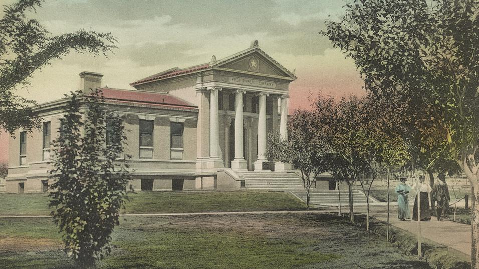 Carnegie Public Library in El Paso, Texas, maybe 1909.