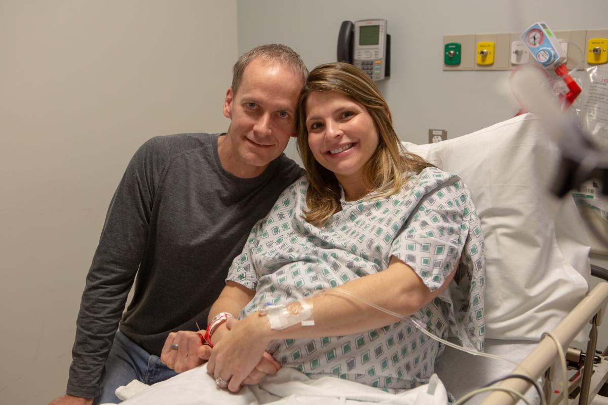Danielle and Nick Vukadinovich of Annandale, Va., volunteered to have their newborn daughter be part of a study to assess the use of bacterial smears after C-sections.