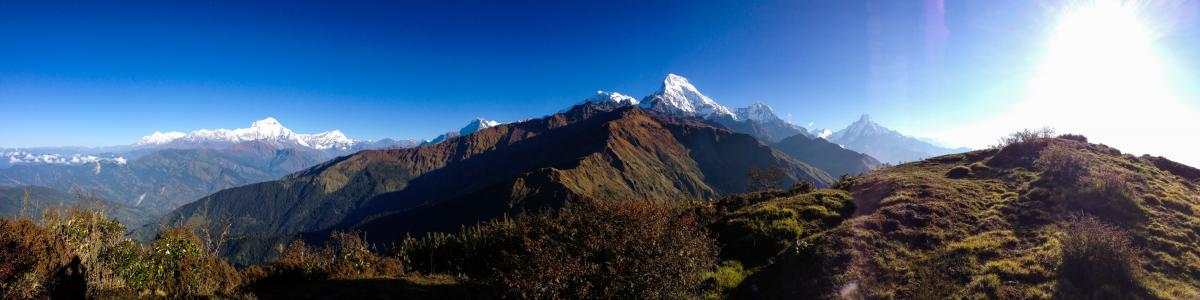 When it's sunny, the Annupurna Circuit in the Himalayas is spectacular. This photo, from October, was taken just south of where Dennis Lee Thian Poh disappeared.