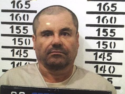 "A 2016 mugshot of Joaquín ""El Chapo"" Guzmán at the Altiplano maximum security prison in Mexico."