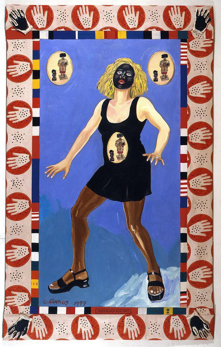 Emma Amos, Does Black Rub Off?, 1992