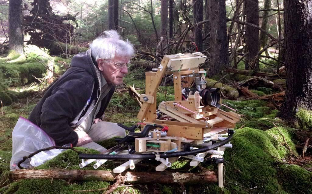 Taylor Lockwood has invented his own elaborate gear for photographing mushrooms in the wild.