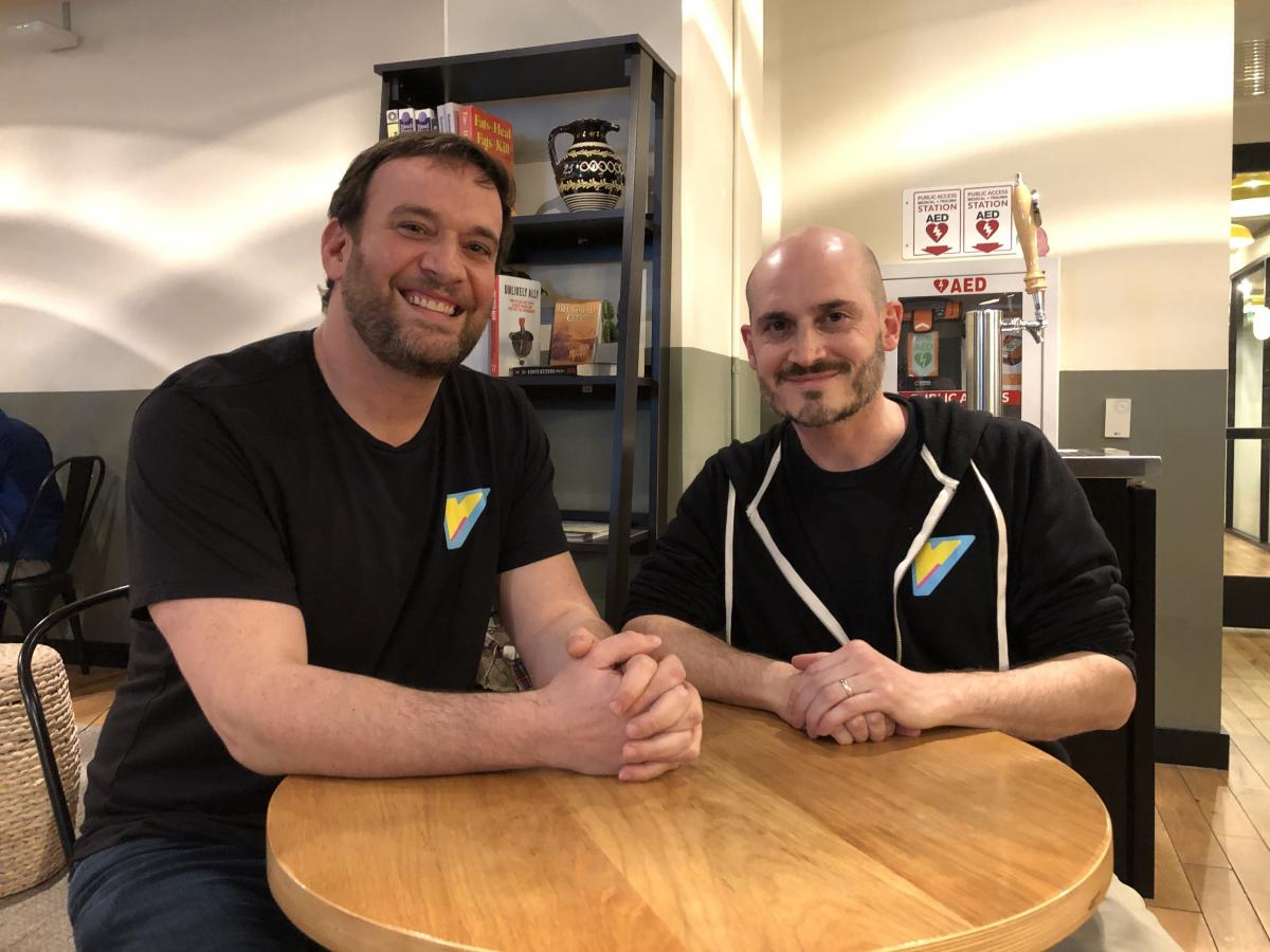 Ben Kusin (left) and Ariel Horn are co-founders of a new gaming-themed TV network called VENN. They plan to launch the Videogame Entertainment and News Network in August. Horn says they were inspired by MTV from the 1990's, which used music as a lens into