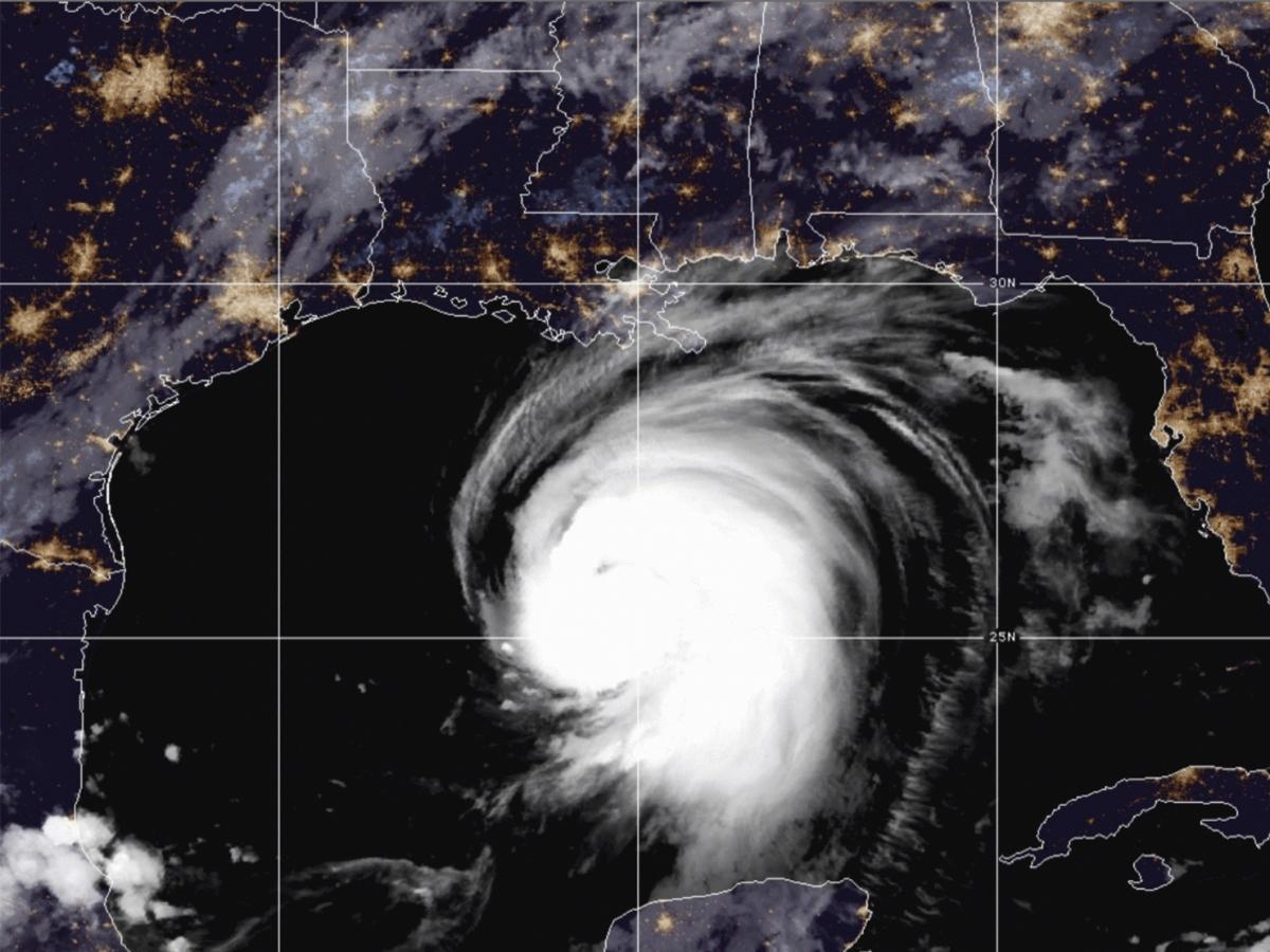Hurricane Laura heads for the U.S. Gulf Coast on Wednesday.