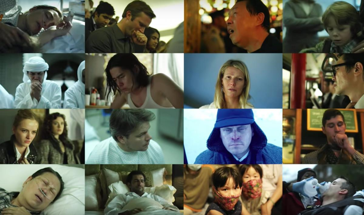 Scenes from the film Contagion.