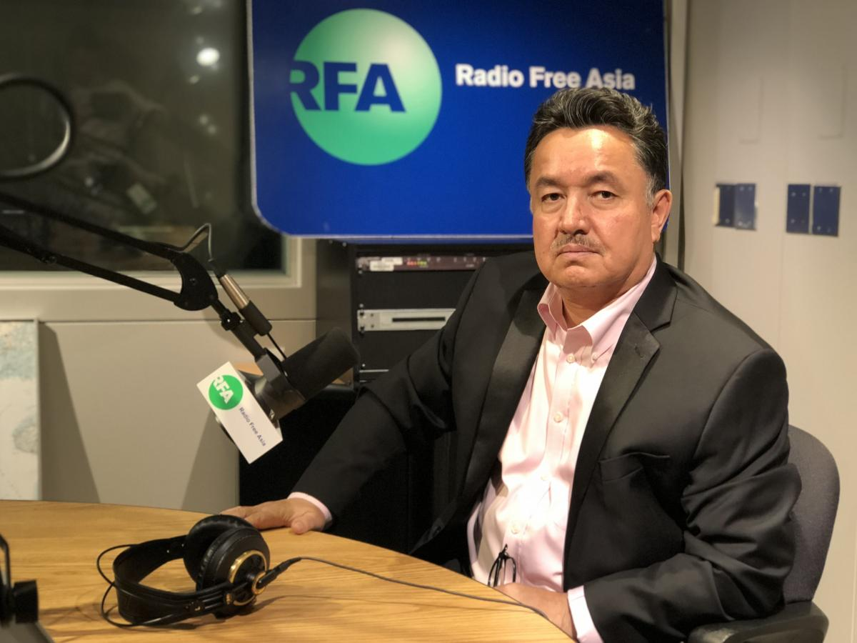 Shohret Hoshur, a journalist at Radio Free Asia who reports on news in China's Xinjiang Uighur Autonomous Region. Eight of Hoshur's family members are detained in the camps or in prison in retaliation for his work, he says, including his 78-year-old mothe