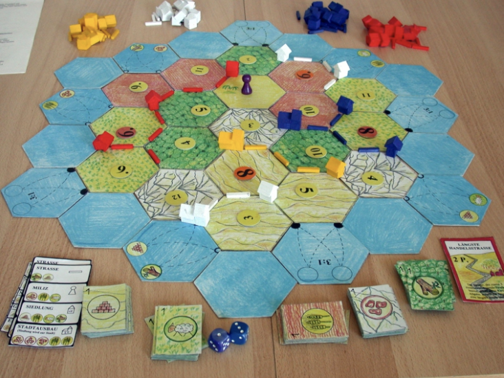A 1994 test version of The Settlers of Catan before it was released a year later in Germany. The game was an instant hit. Today, Catan has sold more than 32 million units and is one of the bestselling board games of all time.