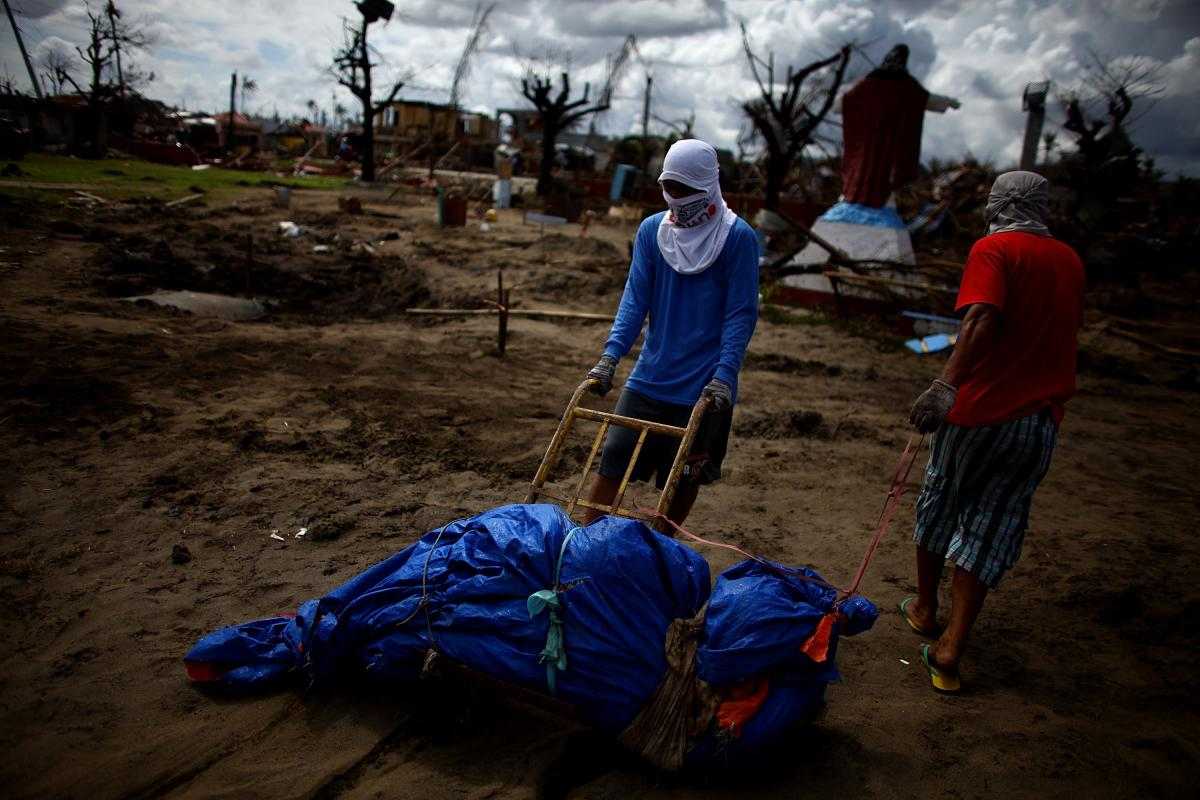 More than 250 bodies have already been buried in the makeshift graveyard.
