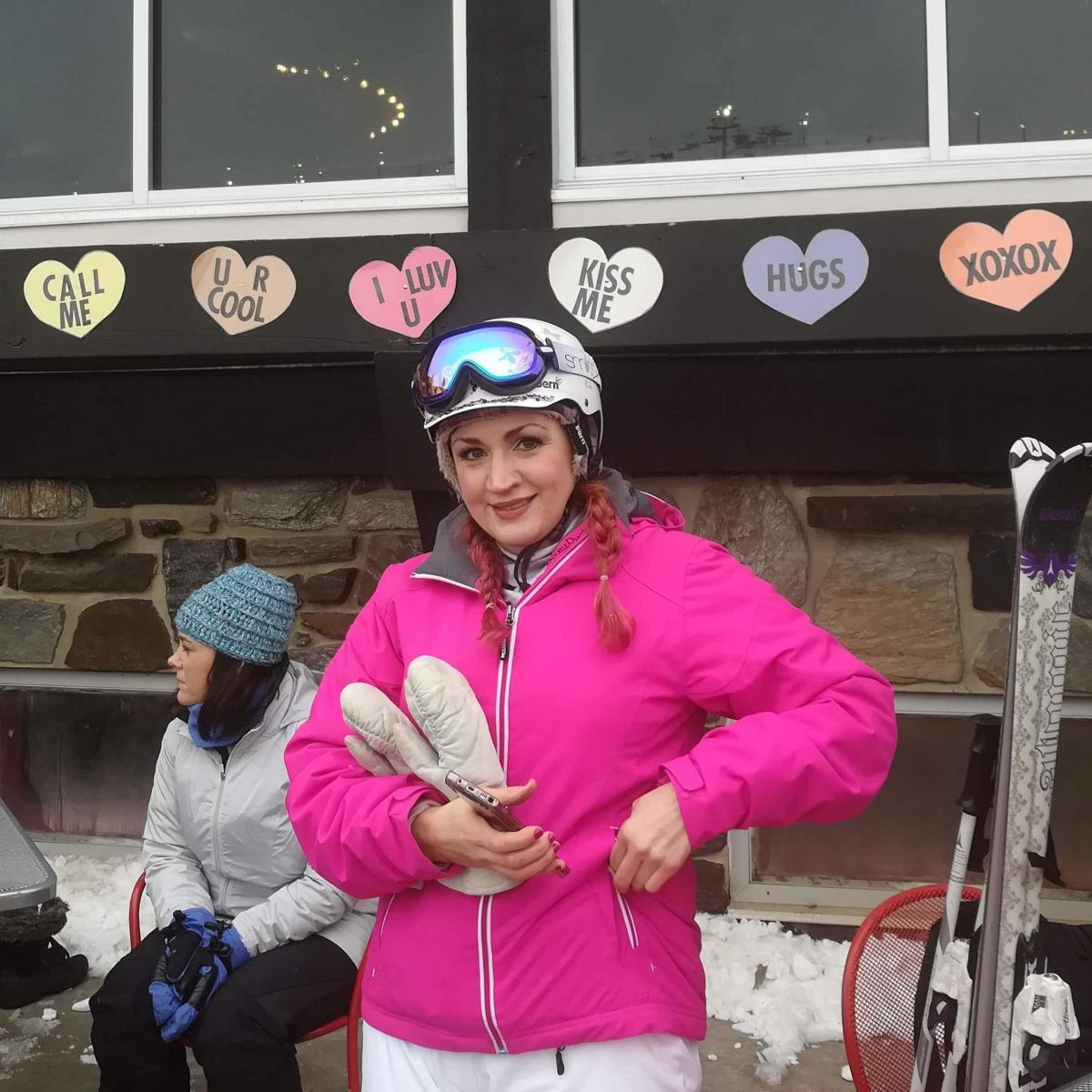 Michelle Kamke, 39, of Madison, Wis., participated in Wilmot Ski Resort's chairlift speed-dating event. It was a good opportunity, she said, to meet someone who also loved skiing.