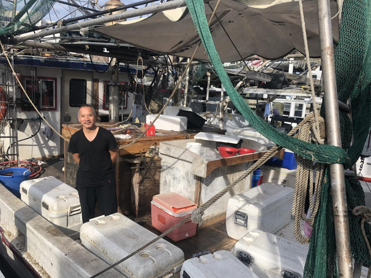 Shrimper Van Pham is selling white shrimp and questions whether there's a future on the water.