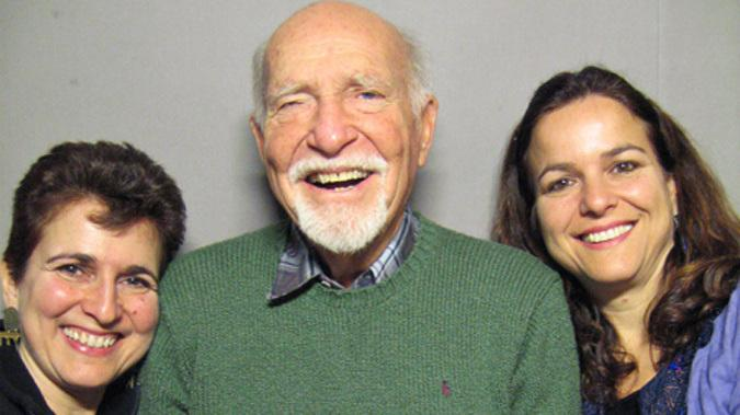 Priya Morganstern (left) and Bhavani Jaroff visited a StoryCorps booth with their father, Ken Morganstern, in 2006. He passed away a year later.