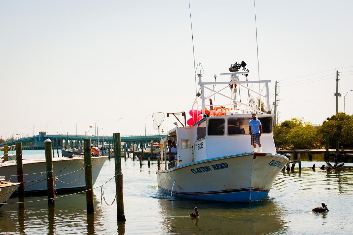 Workers in Fort Pierce, Fla., unload thousands of pounds of catch from a long-line boat that was out for 10 days.