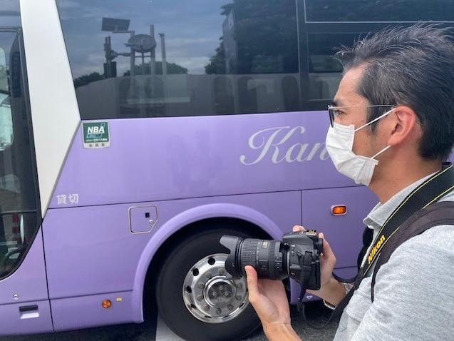 Yuki Sato spends hours every day taking photos of buses in Tokyo. It's his hobby.