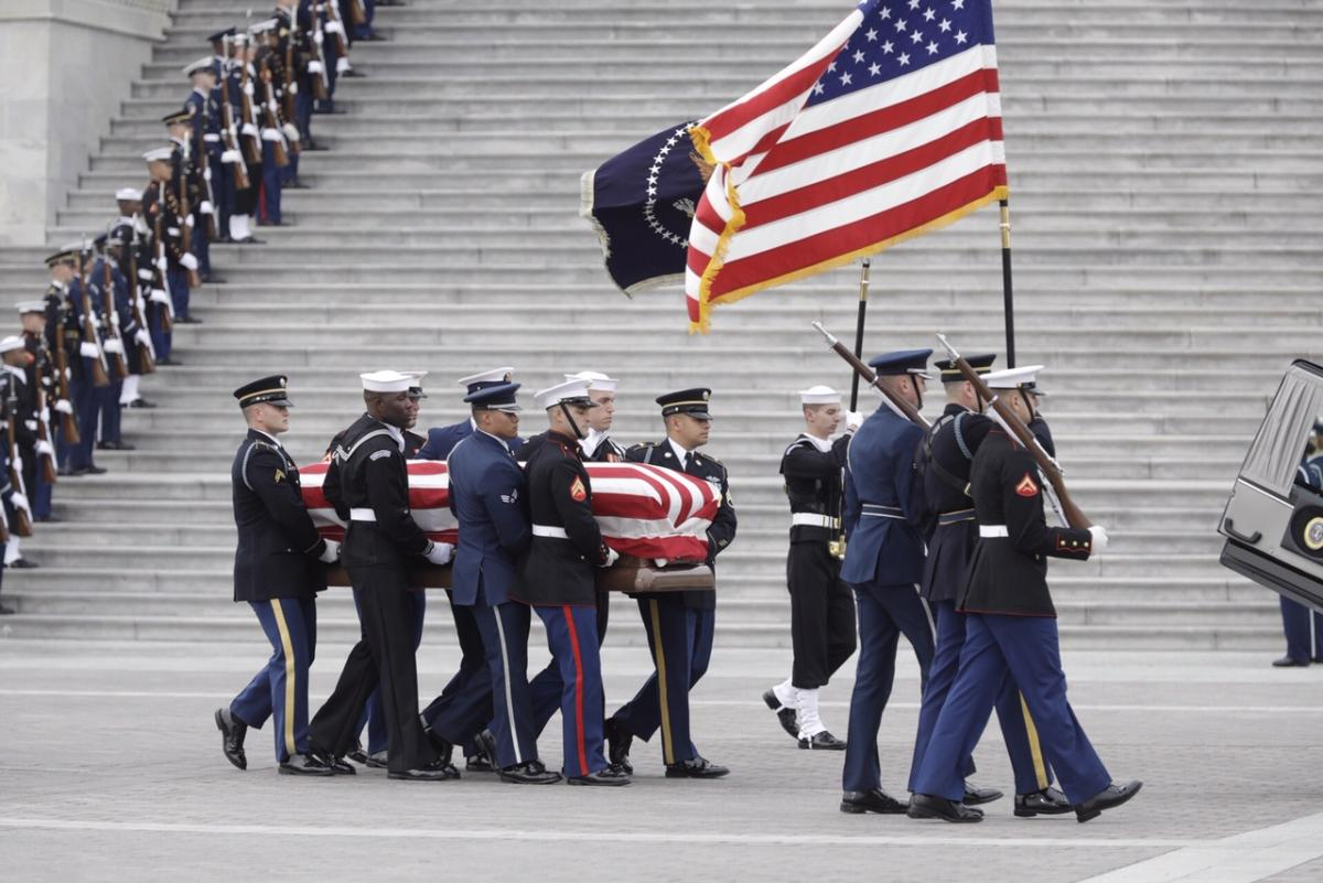 President Bush will be buried at his final resting place at the George H.W. Bush Presidential Library at Texas A&M University in College Station, Texas.
