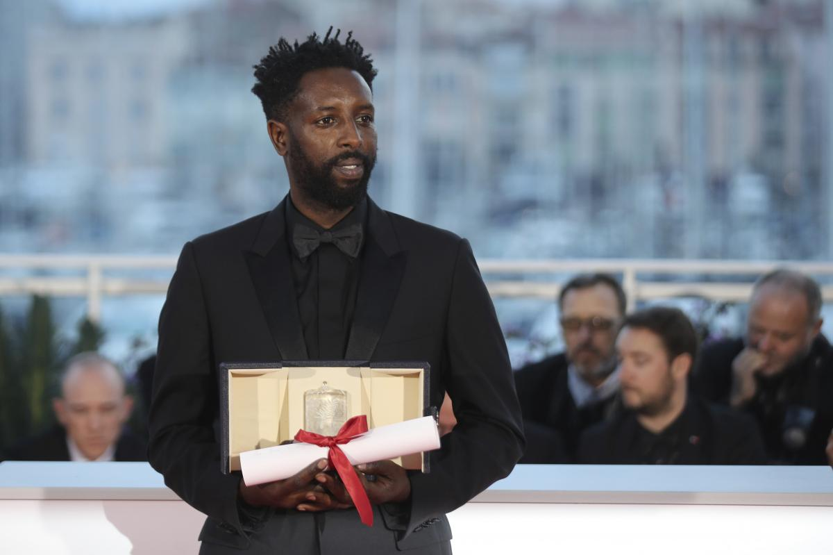 Director Ladj Ly is pictured following the awards ceremony at the Cannes Film Festival in May 2019. Les Misérables won the 2019 Jury Prize at Cannes.