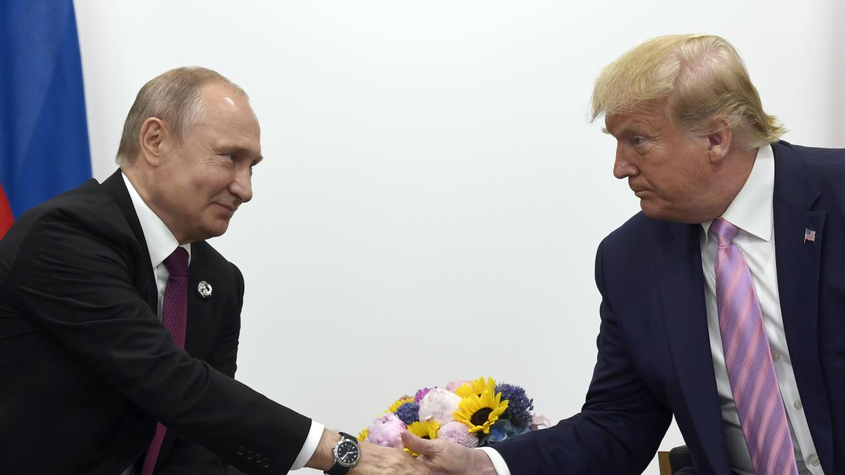 President Trump with Russian President Vladimir Putin on the sidelines of the G-20 summit in Osaka, Japan, last month. Freedom House notes Trump's embrace of authoritarian leaders such as Putin and North Korea's Kim Jong Un.