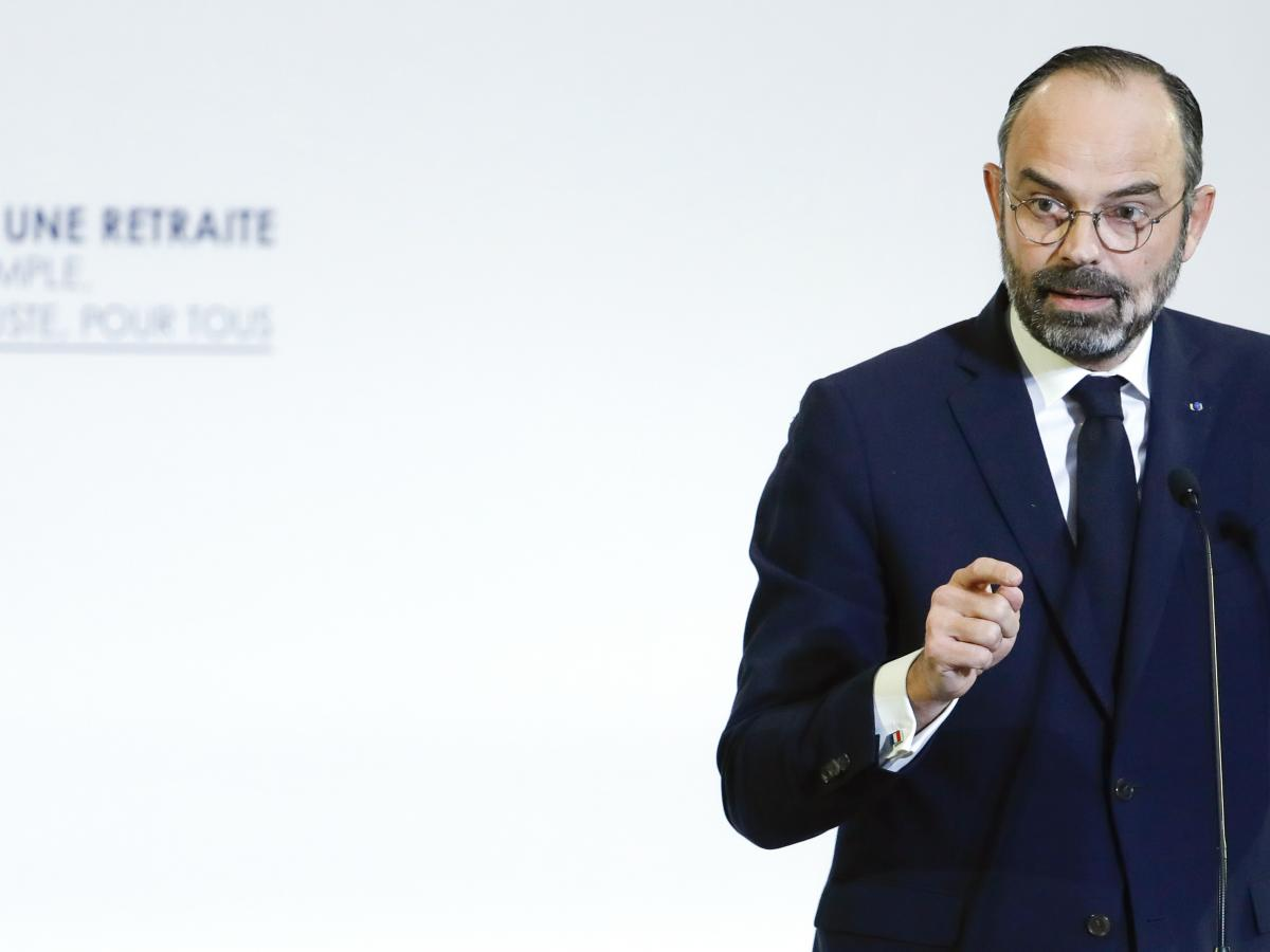French Prime Minister Édouard Philippe unveils the details of a pension reform plan Wednesday in Paris.