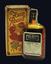 During Prohibition, whiskey could legally be sold as medicine. This particular bottle of Four Roses bourbon was prescribed to a patient in Sparks, Nev., in 1924. The label tells patients to mix 2 ounces of whiskey with hot water. From The Art of American