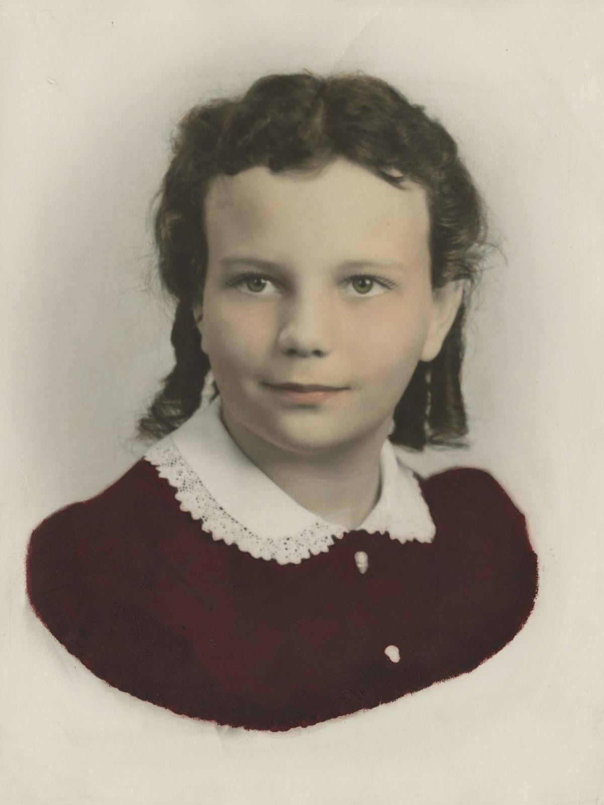 Sandra Day O'Connor as a child.