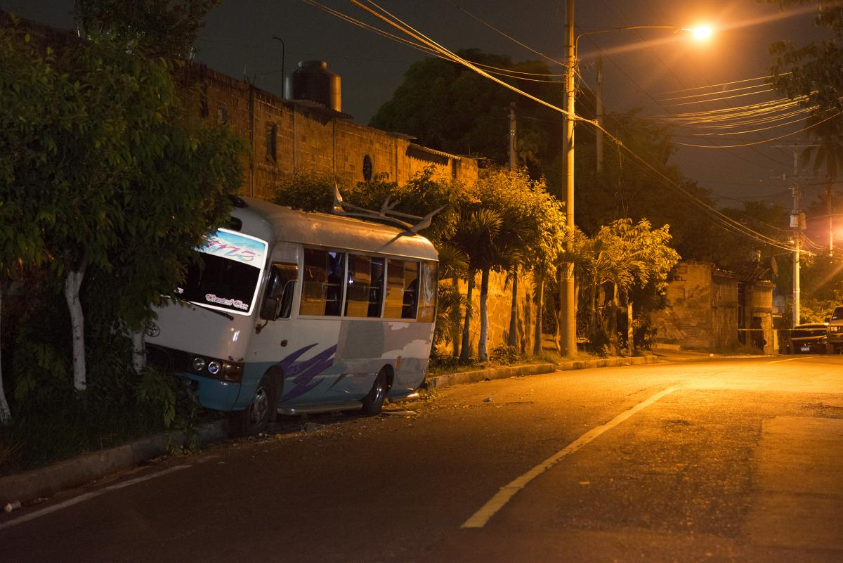 'Over the weekend gangs threaten bus companies on certain routes not to operate. On Monday morning they began killing drivers who refuse to comply with the ban.Photo Encarni Pindado'