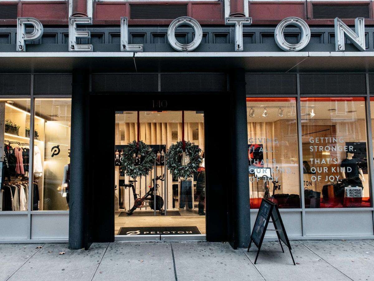 A Peloton studio in New York City. Many fitness facilities have closed because of the coronavirus, and some, like Peloton, are offering free access to content.