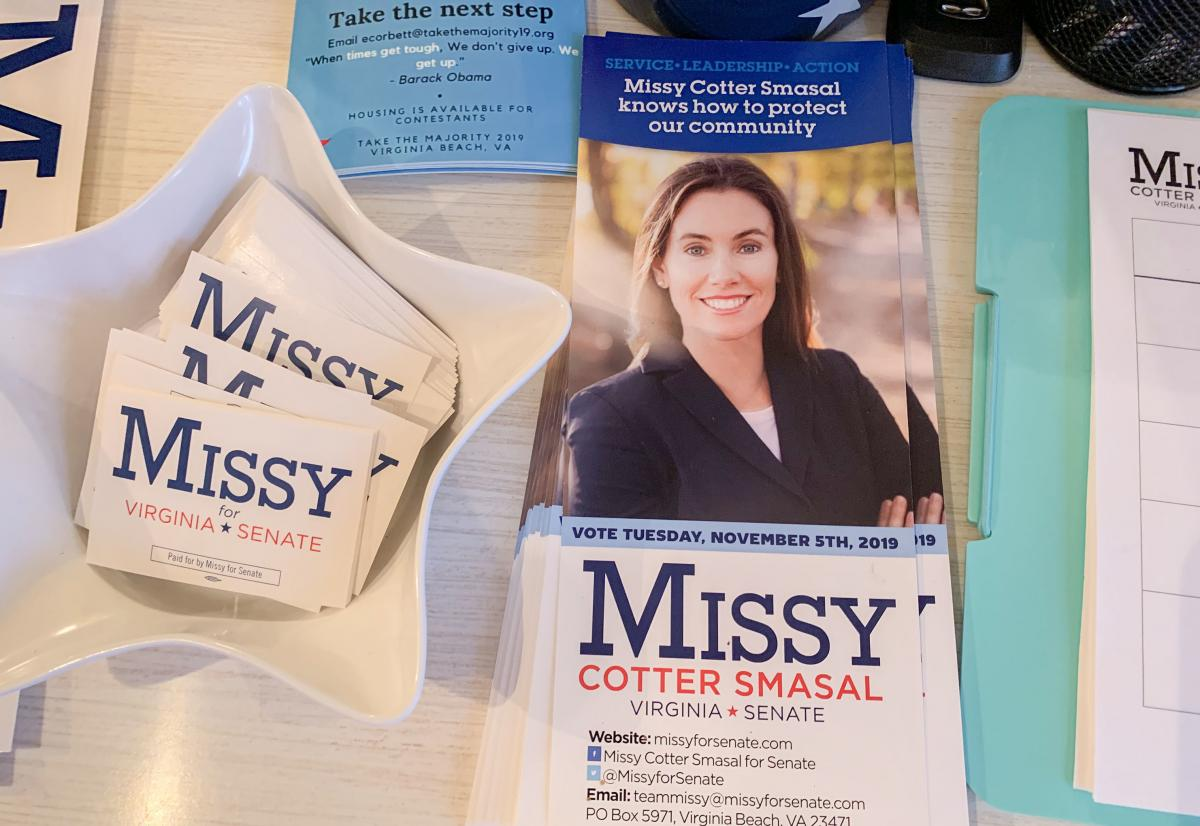 Democrat Missy Cotter Smasal's campaign has gotten a boost from the flow of money into the state from gun-control groups.