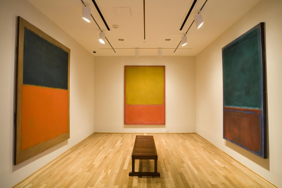 """Phillips designed a special room for the works he acquired from Mark Rothko. He referred to the Rothko Room as a """"chapel."""""""
