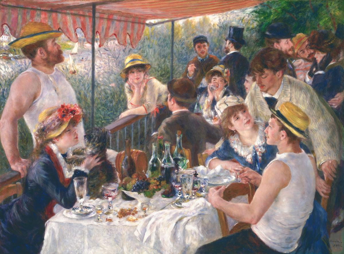 """Phillips believed Pierre-Auguste Renoir's Luncheon of the Boating Party (1880-81, oil on canvas) was """"one of the greatest paintings in the world."""" He acquired it in 1923. """"Such a picture creates a sensation wherever it goes,"""" he said."""
